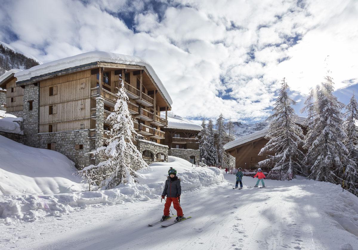 Chalets du Jardin Alpin Val d'Isère facade ouest chalet 1