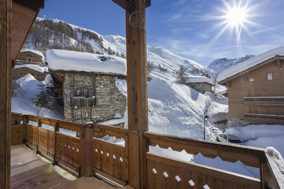Chalets du jardin Alpin - Val D'isere vue sud chalet 3
